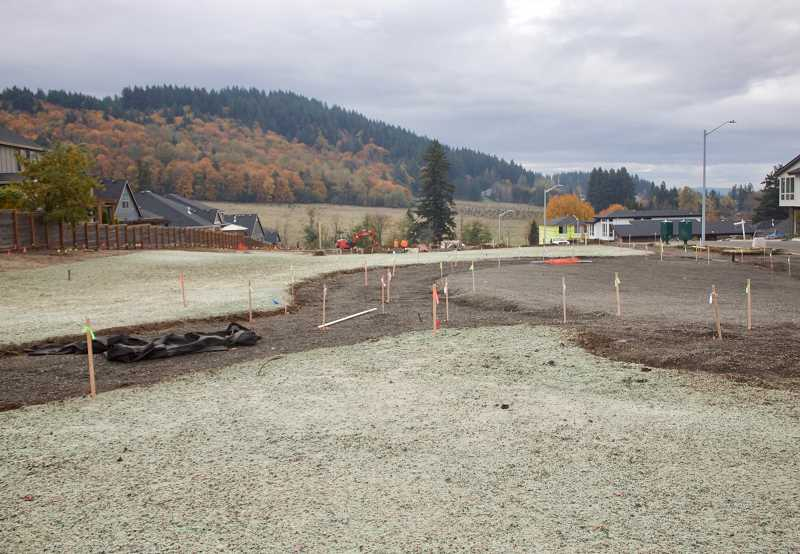 PMG PHOTO: CHRISTOPHER KEIZUR - The future site of Mayor Charles Becker Park, which should be completed by Dec. 31.