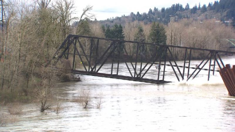PAMPLIN MEDIA GROUP FILE PHOTO - Union Pacific's century-old trolley bridge was dismantled in March 2014, but Gladstone and Oregon City are working with Metro to revive the connection.