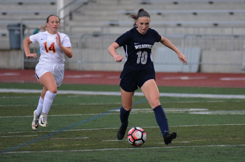 PMG PHOTO: DEREK WILEY - Lindsey Antonson scored four goals against The Dalles earlier this season.