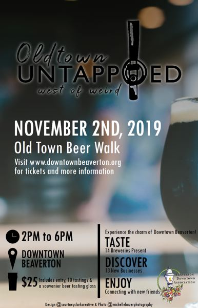 COURTESY BEAVERTON DOWNTOWN ASSOCIATION - Old Town Beer Walk is scheduled from 2 to 6 p.m. Saturday, Nov. 2, by the Beaverton Downtown Association.
