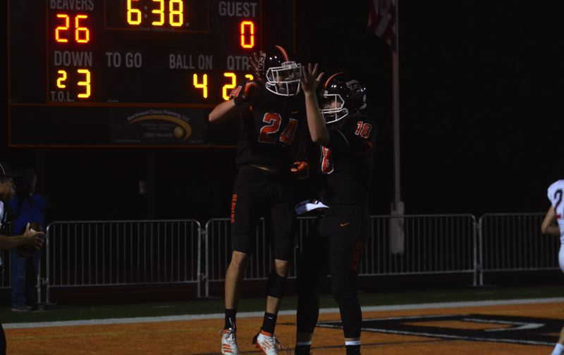 TIMES FILE PHOTO - Beaverton seniors Cody Davidson and Carson Budke and the Beavers take on Jesuit on Friday night.