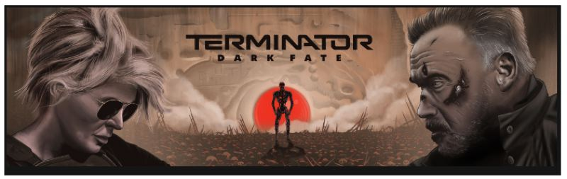 COURTESY PHOTO - With the release of the movie, Paramount Pictures has put up a mural for 'Terminator: Dark Fate' at Southeast Hawthorne Boulevard and Seventh Street. It's designed by Eugene-based illustrator Neal Williams.