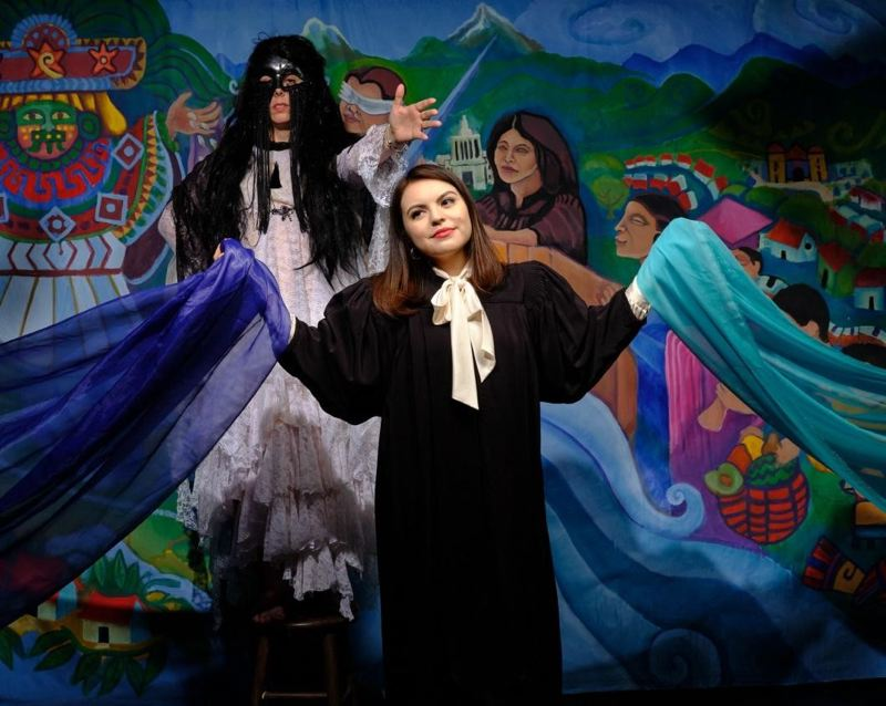 COURTESY PHOTO: CCC - Elle Munoz plays Multnomah County Circuit Judge Xiomara Torres in a free, public performance on Clackamas Community College's Oregon City campus.