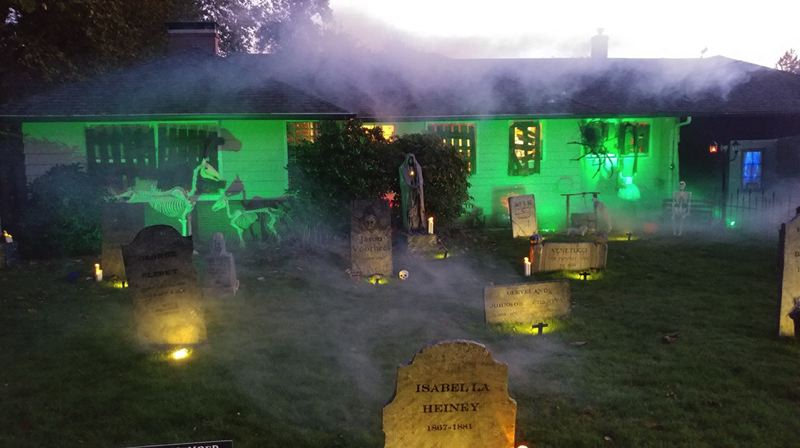 COURTESY PHOTO: NORTHWEST HAUNTERS  - Scare Hollow at 1650 N.W. First St., is one of several Halloween-haunted houses thats part of the Northwest Haunters group, which Troy Crivellone formed to promote and network the most creatively decorated homes in the region.