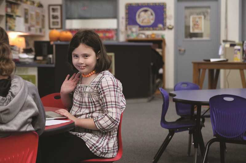 PMG PHOTO: PHIL HAWKINS - Fourth-grader Rosemary Broadhurst is excited for the coding classes, which fit well with her plans to become an engineer.