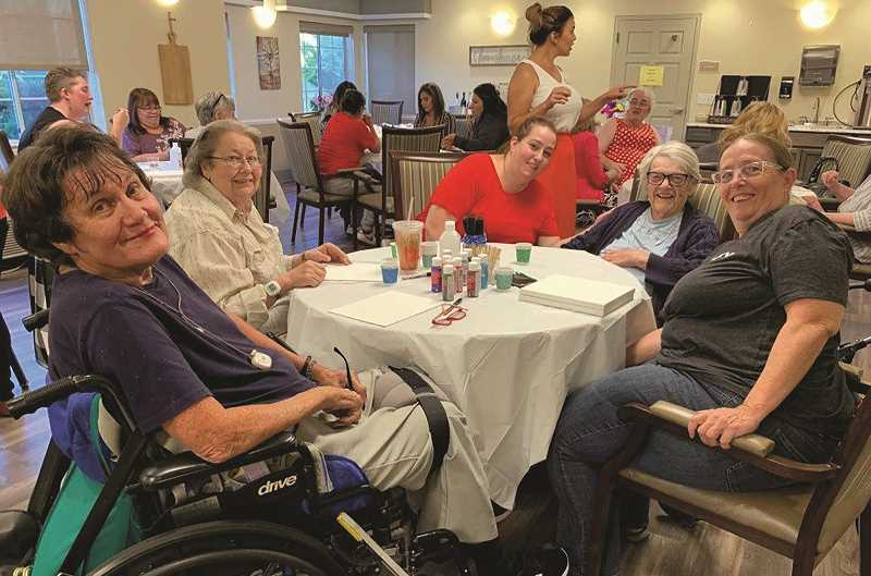 COURTESY PHOTO: EMERALD GARDENS - While the paint night was originally intended to be a one-time event, its popularity among Emerald Garden residents has organizers seeking to make it a regular activity.