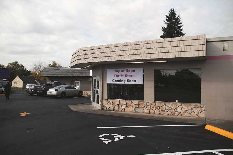 PMG PHOTO: PHIL HAWKINS - Ray of Hope thrift store is located at 335 N. Pacific Hwy. in Woodburn, and is scheduled to hold its grand opening on Saturday, Nov. 2.