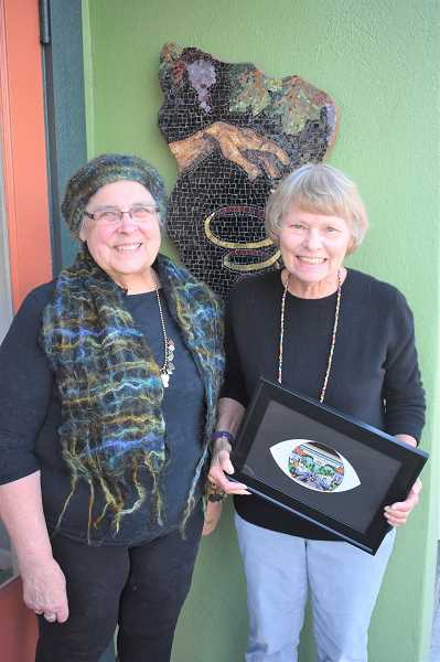 PMG PHOTO: EMILY LINDSTRAND - Annette Reisbick and Louise Stivers are the Spiral Gallery's featured artists during November.