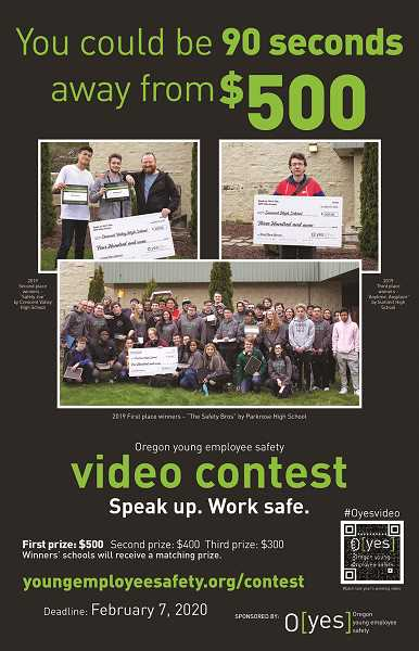 COURTESY: OREGON DEPT. OF CONSUMER AND BUSINESS SERVICES - Corvallis Crescent Valley, Bends Summit and Portlands Parkrose were among the 2019 high schools with winning videos.