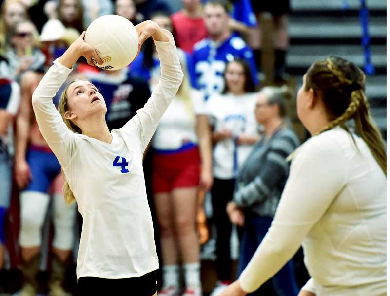 PHOTO BY DEAN TAKAHASHI - According to coach Mackenzie Upchurch, senior Lauren Griswold has been a leader for Newberg volleyball this season.