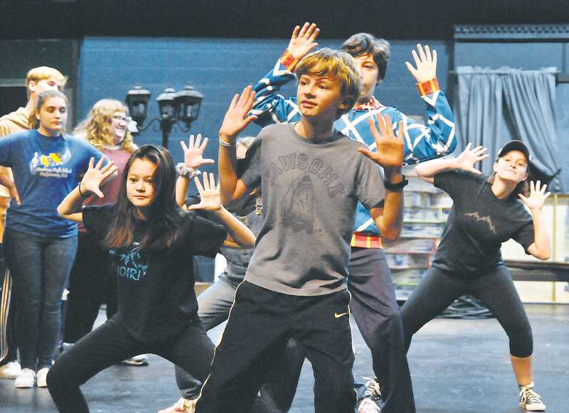 GRAPHIC PHOTO: GARY ALLEN - The cast of 'Matilda' includes a number of middle schools students.