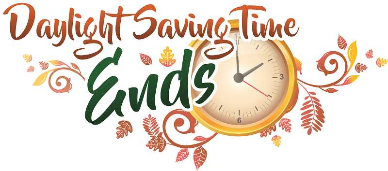 PIONEER GRAPHIC - Daylight saving time ends this Sunday, Nov. 3.