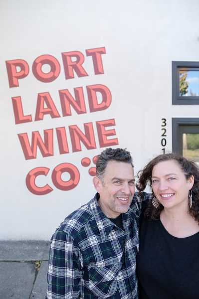 COURTESY PHOTO: BROUSSARD COMMUNICATIONS - Matt Berson and Angie Reat have been making wine since 2007 and recently opened Portland Wine Company in Portland. They made their first wines this year in the new facility. Love & Squalor is one of their labels.