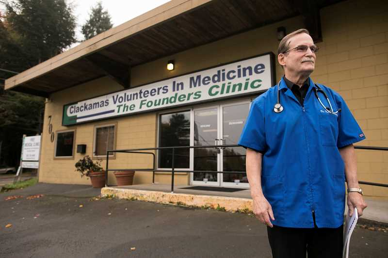 PMG PHOTO: JAIME VALDEZ - Retired Lake Oswego doctor Ken Martin volunteers at Clackamas Volunteers in Medicine's clinic in Oregon City.