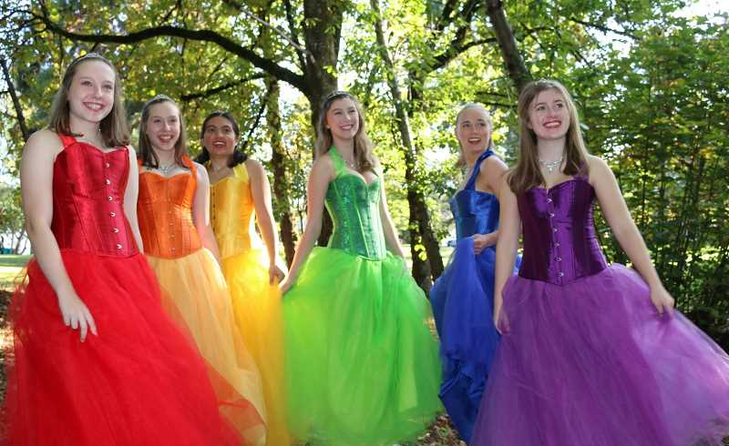COURTESY PHOTO  - Krayon Kids will present Twin Moons Rising opening Nov. 8 and continuing through Nov. 24 at the Barclay Theater in Oregon City. The cast includes six graduating seniors, from left are Ashley Alexander, Briana Alexander, Kendall Morrow, Natalie Scott, Kadyn Skipper and Calais Radcliffe.