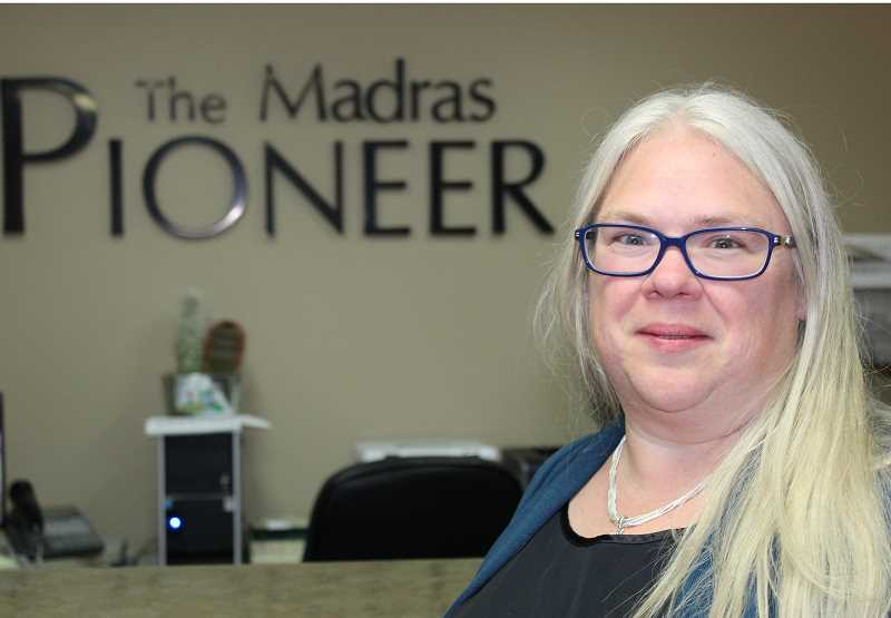 HOLLY M. GILL/MADRAS PIONEER - Teresa Jackson, a Madras resident for the past nine years, joins the Pioneer, bringing experience working in newsrooms at daily and weekly publications in Oregon and Washington.