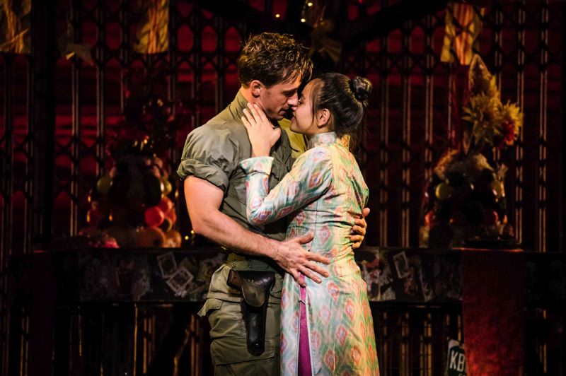 COURTESY PHOTO: MATTHEW MURPHY - Emily Bautista (as Kim) stars alongside Anthony Festa (as Chris) in the revival of 'Miss Saigon.' Said Bautista: 'I love how strong Kim is, her passion and her strength.'