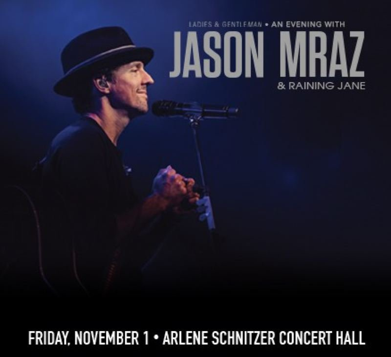 COURTESY PHOTO: PORTLAND5.COM - Jason Mraz and Raining Jane play Arlene Schnitzer Concert Hall, Nov. 1.