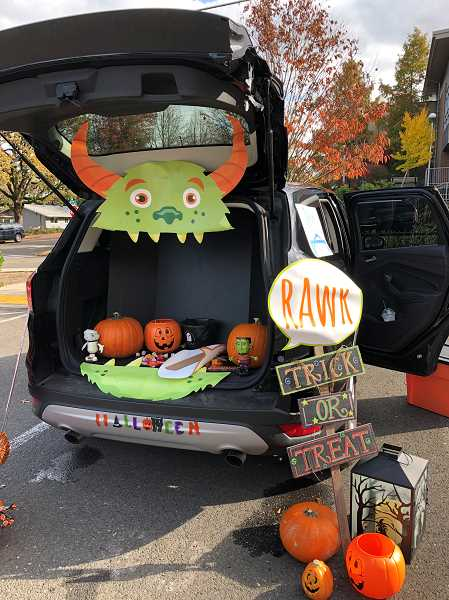 COURTESY PHOTO: CITY OF WEST LINN - Trunk-or-treating requires candy passer-outers to decorate the trunks of their cars.