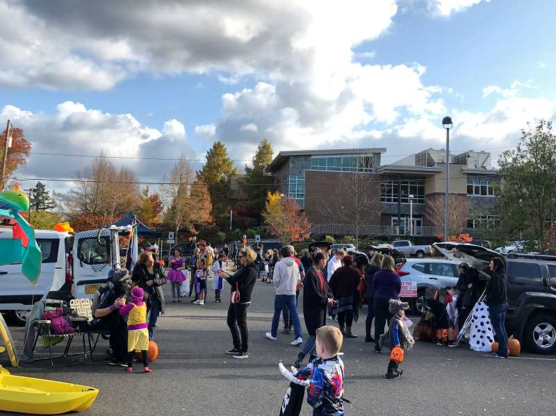 COURTESY PHOTO: CITY OF WEST LINN - The West Linn Youth Advisory Council hosted Trunk-or-treat Saturday, Oct. 26.