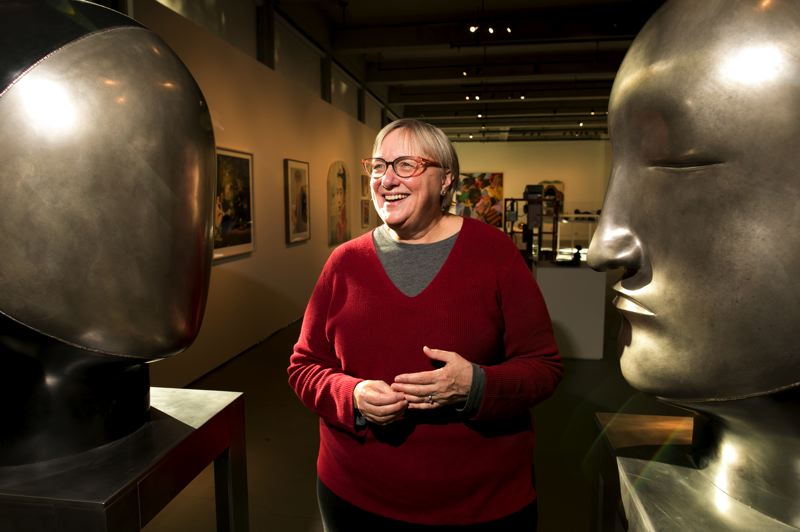 PMG PHOTO: JAIME VALDEZ - Linda Tesner is the curator for the Jordan Schnitzer Museum of Art on the Portland State University campus. The first exhibit, 'Art for All,' was fun for Tesner to put together. Said Tesner: 'There are many works that spoke to the human experience.'