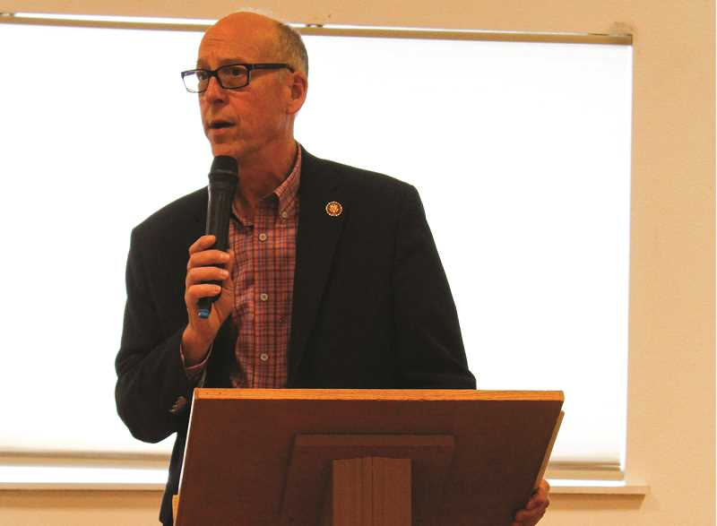 CENTRAL OREGONIAN - U.S. Rep. Greg Walden hosts a town hall at the Powell Butte Community Center earlier this year.