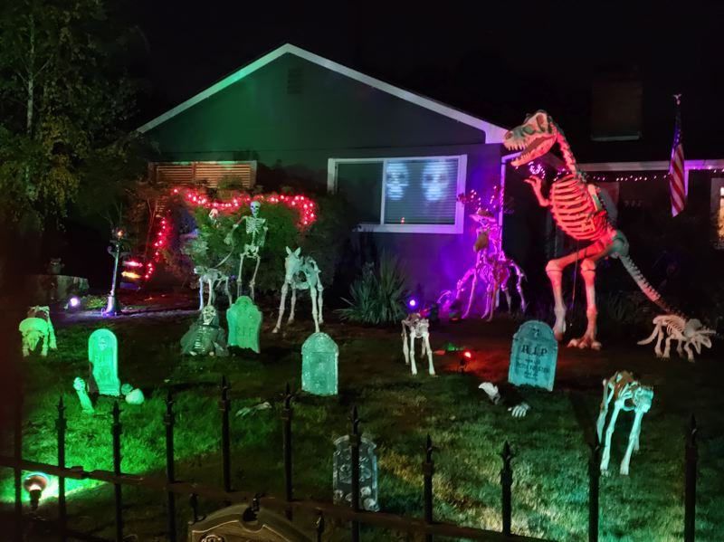 COURTESY PHOTO: NORTHWEST HAUNTERS - Angela McFarland's 'Rockwood Rot' display at 922 S.E. 179th Ave., is sure to induce creeps, shivers and overall sense of Halloween dread.