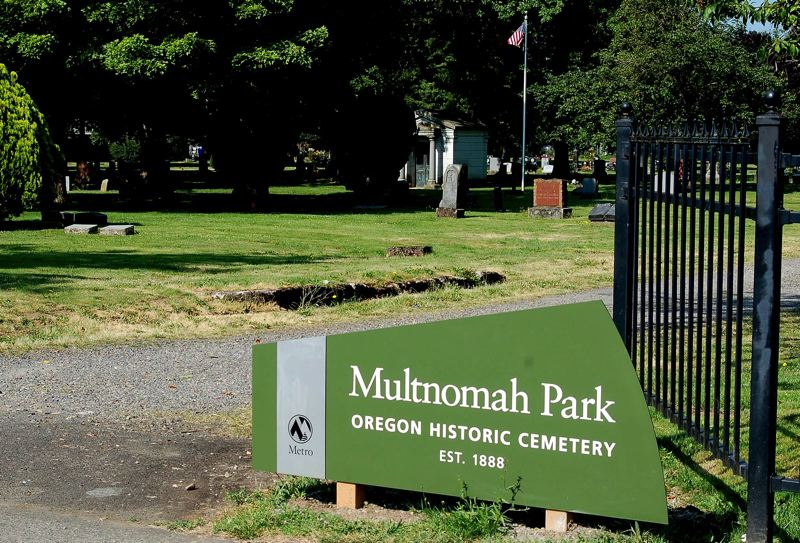 COURTESY PHOTO: METRO - Multnomah Park Cemetery is one of 14 historic cemeteries operated by Metro. It also is one of the cemeteries Metro staff could research for stories about women involved in the suffragist movement.