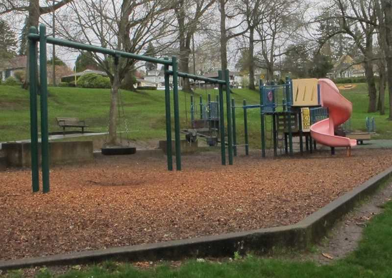 GALLAGHER - The play area surface at Gabriel Park will be replaced with softer material than bark dust.