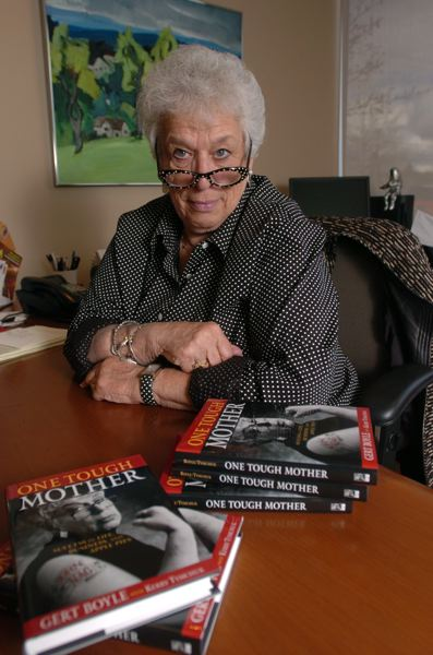 PMG FILE PHOTO - Gert Boyle's autobiography, 'One Tough Mother,' was published in 2005.
