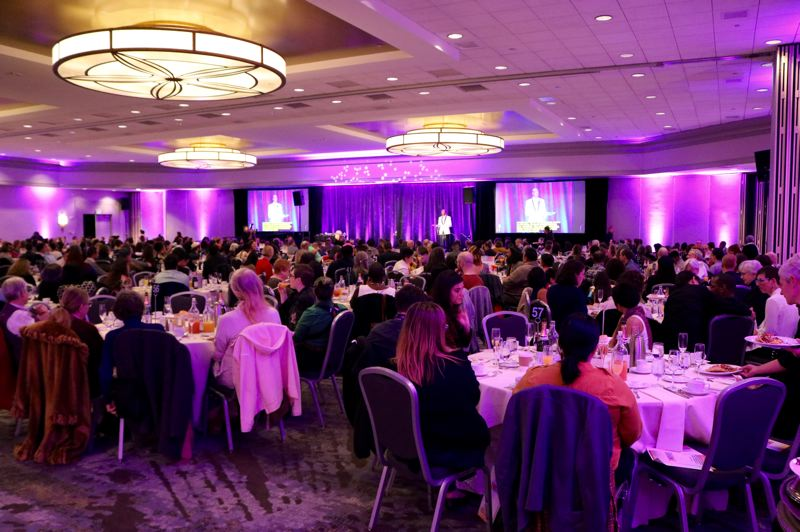 PMG PHOTO: ZANE SPARLING - Around 600 people attended the 2019 SHINE event, an annual fundraiser for the Q Center, on Sunday, Nov. 3 in downtown Portland.