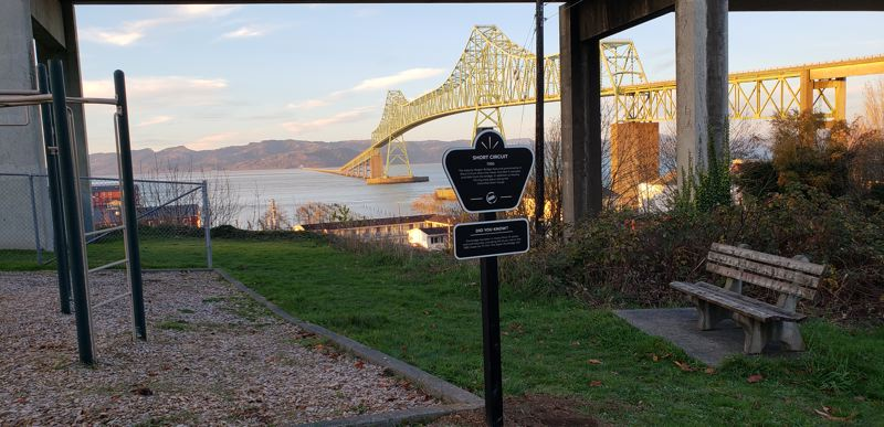 COURTESY PHOTO: OREGON FILM - Beautiful Astoria has been the site of several films, including 'Short Circuit,' which is now documented with a sign at Alameda Park by Oregon Film (above).