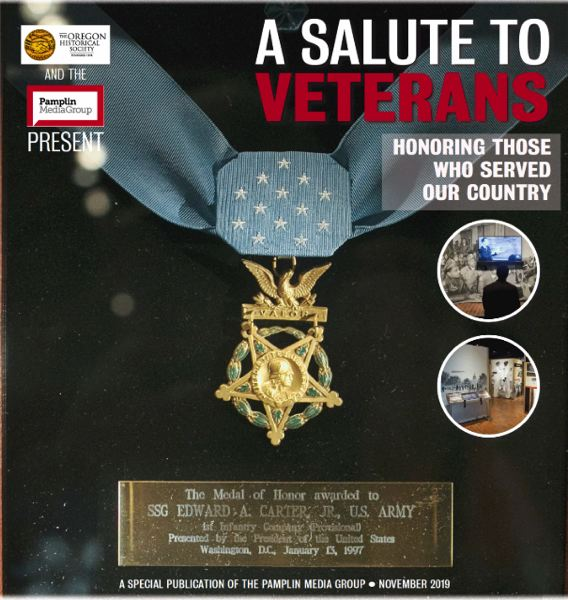 PAMPLIN MEDIA GROUP - Cover of this year's special section dedicated to veterans.