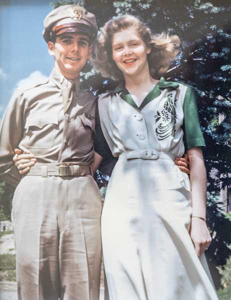 PMG PHOTO: JONATHAN HOUSE - A photo of World War II veteran Dale Long with his late wife Vivie.
