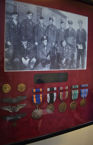 PMG PHOTO: RAYMOND RENDLEMAN - Members of the 10-man team, including James Hong of Milwaukie, received several medals for their service on a B-17 bomber during World War II.