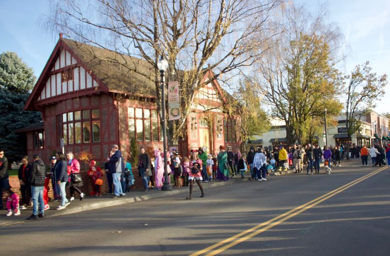 PMG PHOTO: CHRISTOPHER KEIZUR - Hundreds of families flocked into downtown Gresham for the annual Safe Trick-or-Treat event.