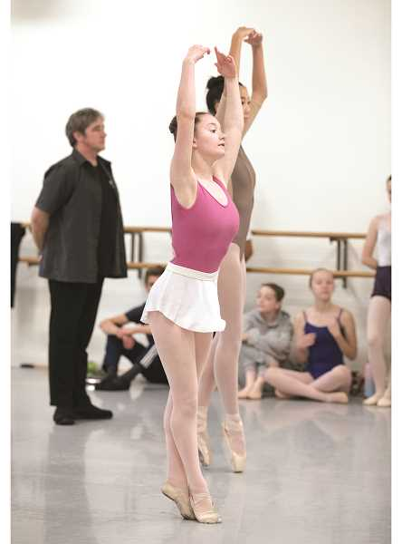 BLAINE TRUITT COVERT - Aurora's Savannah Rodriguez will dance during The Portland Ballet's production of 'Petrushka,' which opens Thanksgiving weekend.
