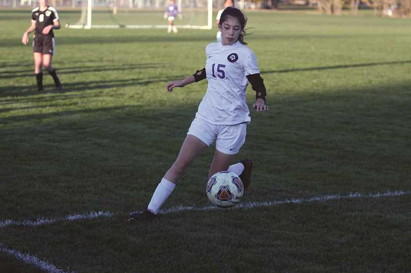 PMG PHOTO: PHIL HAWKINS - Forward-midfielder Cassidy Garibaldo is among nine freshmen on this years' varsity soccer team, which has won 10 games for the team's best season in two decades.