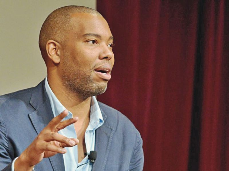 COURTESY OPB - Ta Nehisi Coates spoke in Portland earlier this month. Author and journalist Naseem Rakha contrasts his message to that of President Trump.