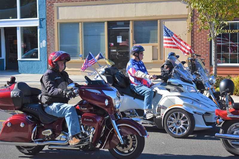 PMG FILE PHOTO - The annual Estacada Veterans Day parade is scheduled for 11 a.m. Monday, Nov. 11.