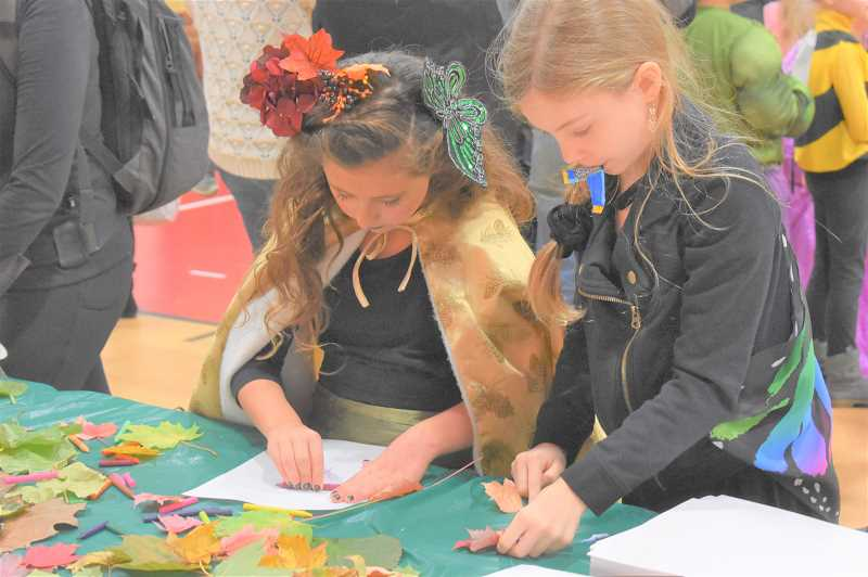 PMG PHOTO: EMILY LINDSTRAND - Summit Learning Charter students work on autumn-inspired craft projects