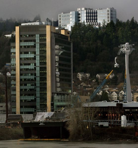 PMG FILE PHOTO - OHSU's Marquam Hill campus is a Portland landmark. Workplace issues have become a flashpoint for the university and its unions.