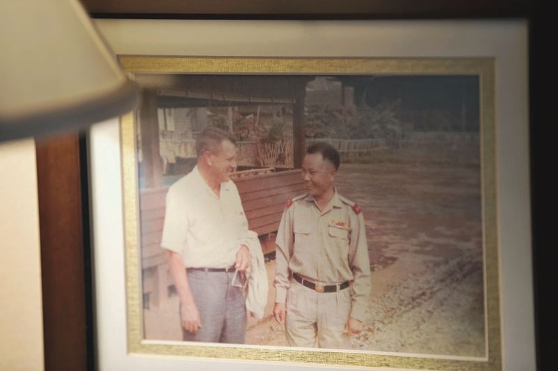 CONTRIBUTED: MIKE BURTON - Mike Burton with Royal Laotian Army General Vang Pao, head of the Special Guerrilla Units of the Hmong, an Army recruited by the CIA.
