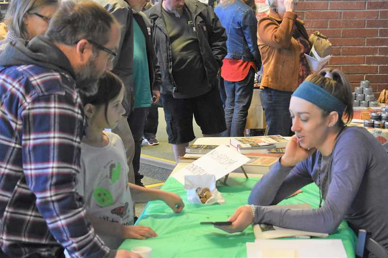 PMG PHOTO: EMILY LINDSTRAND - Mushroom identification was one activity at the Festival of the Fungus.