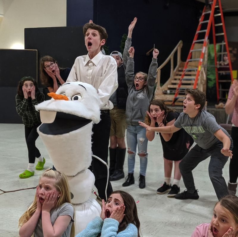 COURTESY PHOTO: EASTSIDE THEATER COMPANY - The Eastside Theater Co. cast of Disneys Frozen Jr. rehearses for the upcoming run of shows for the scaled-down version of the 2018 Frozen Broadway musical.