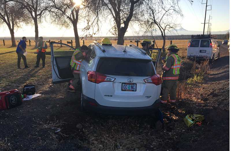 PHOTO COURTESY OF CROOK COUNTY SHERIFF'S OFFICE - Two Powell Butte women were injured in a crash on Powell Butte Highway.