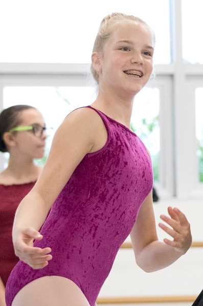 COURTESY PHOTO: BLAINE TRUITT COVERT - 15-year-old Alexia Lipscomb practices at The Portland Ballet studio. Lipscomb is starring as a waitress in the wold premiere of 'Petrushka.'