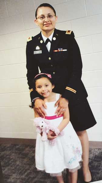 SUBMITTED PHOTO: CLARIZZA PAZ - Clarizza Paz, shown here with her daughter after she joined the Army.