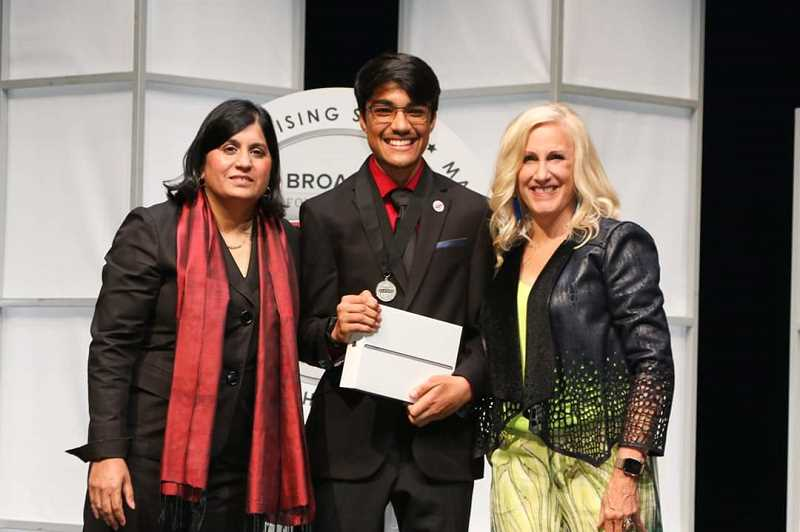COURTESY PHOTO: SOCIETY FOR SCIENCE AND THE PUBLIC - Rishab Jain, 14, took home the second place price in the technology category at the 2019 Broadcom MASTERS science and engineering competition in Washington, D.C.