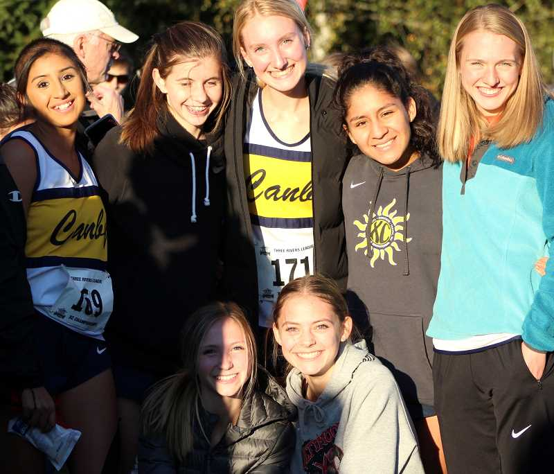 COURTESY PHOTO: BOB WEBBER - The Canby women's cross country team heads to state in Eugene on Saturday, Nov. 9.